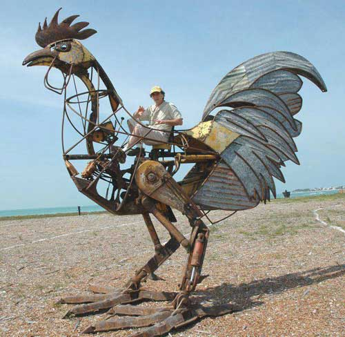 GiantMetalRooster-a