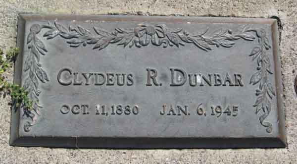 ClydeusRosalureWilliamsDunbarHeadstone-a